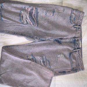Forever 21 boyfriend pinkblue jeans